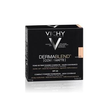 Vichy VICHY Dermablend Mineral Kompakt Toz Fondöten SPF25  9.5 gr. - NUDE 20 Ten